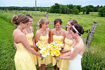 Yellow Brides Maids Dresses