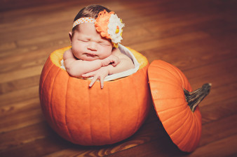 Baby in Pumpkin Photo