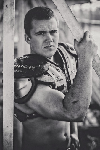 High School Senior Abbotsford Football Photo