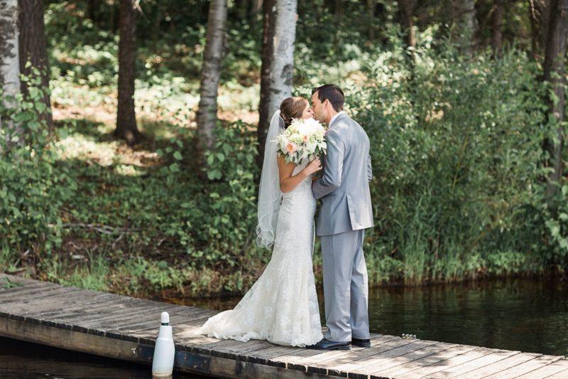 Northern Wisconsin Backyard Lake Wedding