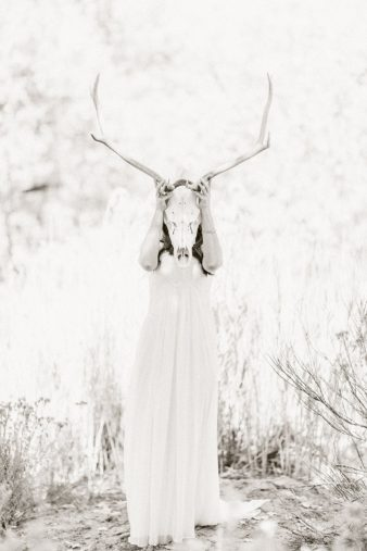 21-Bride-with-Antlers-Black-White-Film-style-Photos