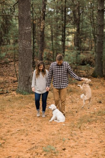 09-Pine-tree-rustic-Central-Wisconsin-Fall-Engagement-Photos-James-Stokes-Photography