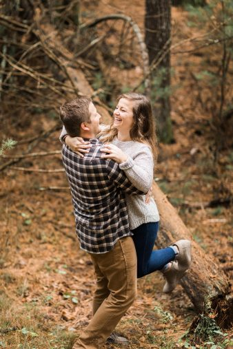 13-rustic-vintage-canoe-engagement-photos-on-riverJames-Stokes-Photography