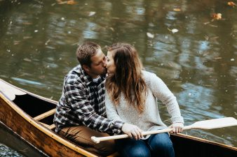 20-rustic-vintage-canoe-engagement-photos-on-riverJames-Stokes-Photography